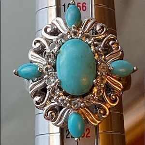 Sterling Turquoise cz ring